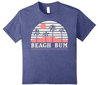 Beach Bum Palm Tree Silhouette Stripes Vintage T-Shirt