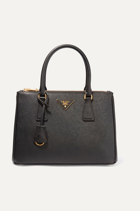 Prada Galleria Medium Textured-leather Tote - Black