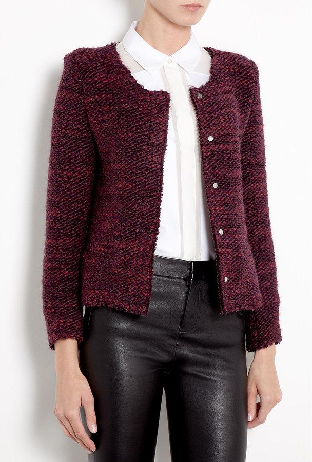 IRO Shena Alpaca Bordeaux Jacket