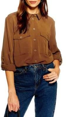 Topshop Utility Double Pocket Shirt