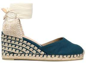 Castaner Lace-Up Canvas Wedge Espadrilles