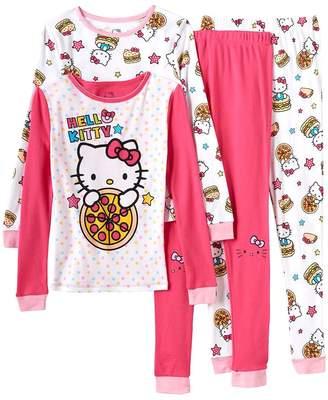 Hello Kitty Girls 4-pc. Pizza Pajama Set Size 4
