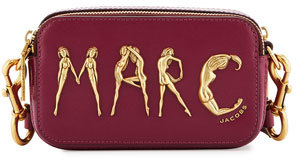 Marc JacobsMarc Jacobs Snapshot Flashed Leather Camera Bag, Berry