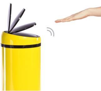 Sense Touch-free Bin 50L, Yellow