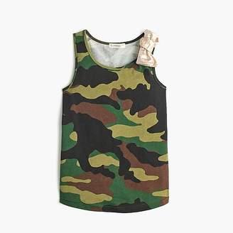 J.Crew Girls' camo tank top with bow