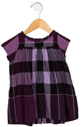 Burberry Girls' Checked A-Line Dress violet Girls' Checked A-Line Dress