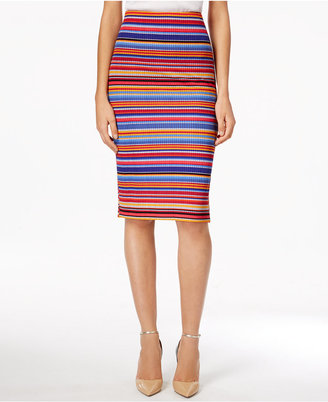 ECI Striped Jacquard Pencil Skirt $60 thestylecure.com