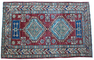 "One Kings Lane Vintage Afghan Rug - 4' x 6'1"" - Hot Moon Collection"