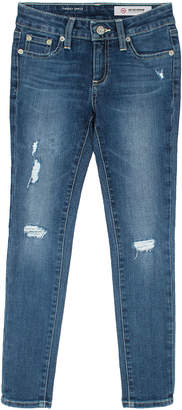 AG Jeans Twiggy Swamp Meet Distressed Ankle Cropped Jeans, Size 7-14