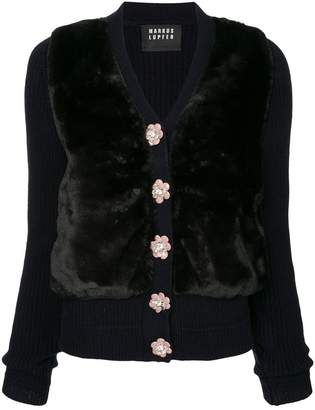 Markus Lupfer floral buttons cardigan