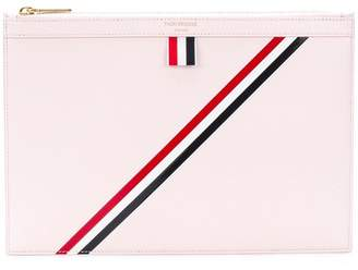 Thom Browne Diagonal Stripe Small Leather Tablet Holder