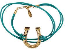 Ettika Large Horseshoe Leather Wrap Bracelet