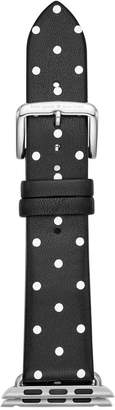 Kate Spade Black with White Dot Leather Apple Watch Strap 38mm