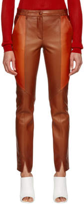 Givenchy Orange Leather Pants