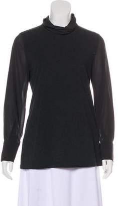 Brunello Cucinelli Silk Sleeve Top