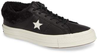 Converse One Star Street Warmer Faux Fur Lined Low Top Sneaker