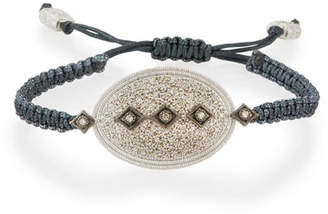 Armenta New World Midnight Pavé Diamond Pull-Cord Bracelet