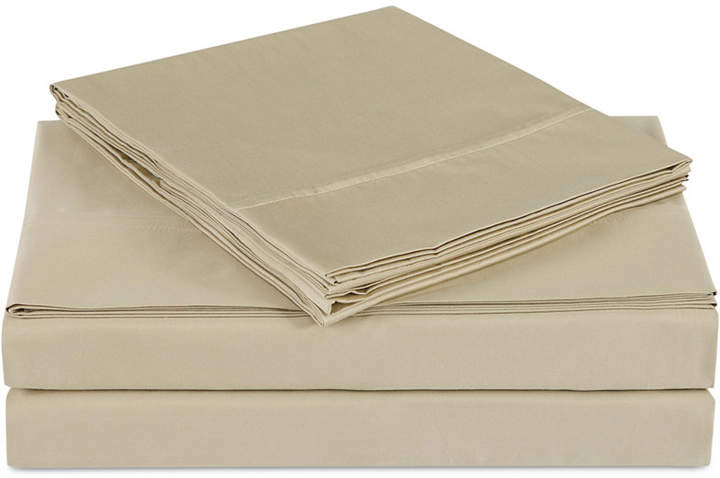 Luxe Cotton Sateen 510 Thread Count Solid Pair of King Pillowcases Bedding
