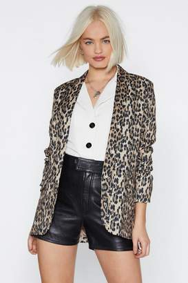 Nasty Gal One Meow-ment in Time Leopard Blazer