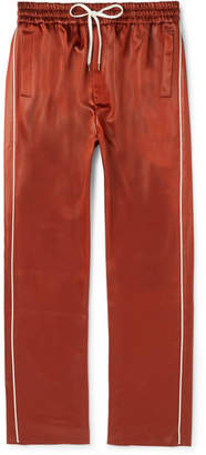Cmmn Swdn Buck Slim-Fit Piped Satin Sweatpants