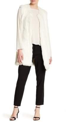 Theory Fadri Blithe Genuine Rabbit Fur Vest $1,495 thestylecure.com