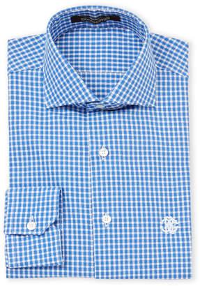 Roberto Cavalli Gingham Dobby Dress Shirt
