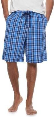 Croft & Barrow Men's Plaid Woven Pajama Shorts