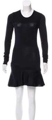 Isabel Marant Fluted Long Sleeve Dress