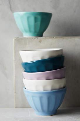 Anthropologie Assorted Mini Latte Bowls, Set of 6