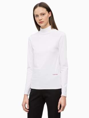 Calvin Klein cotton stretch logo turtleneck sweater
