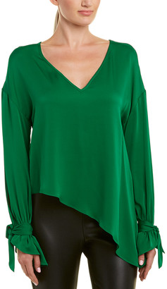Milly Nicolina Silk-Blend Top