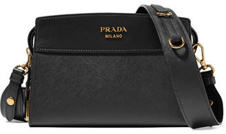 Prada - Esplanade Small Textured-leather Shoulder Bag - Black $1,435 thestylecure.com