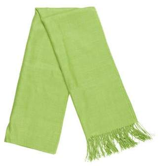 Alicia Adams Alpaca and Silk Blend Scarf w/ Tags Lime and Silk Blend Scarf w/ Tags