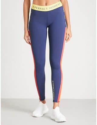 Perfect Moment Logo-print stretch-jersey leggings