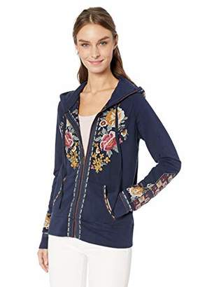 Johnny Was JWLA By Women's Zip Hoodie with Embroidery