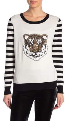 Romeo & Juliet Couture Graphic Front Knit Sweater