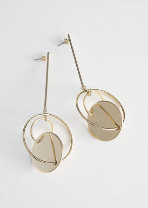 And other stories Disc Hoop Hanging Earrings