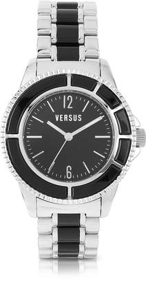 Versace Versus Tokyo Crystal 42 Stainless Steel and Black Unisex Watch
