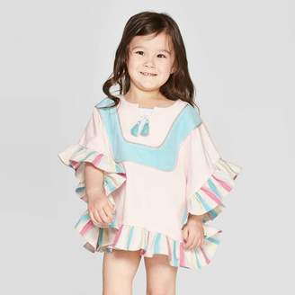 Mila Louise and Emma & Emma Toddler Girls' Swim Cover-Up - Pink