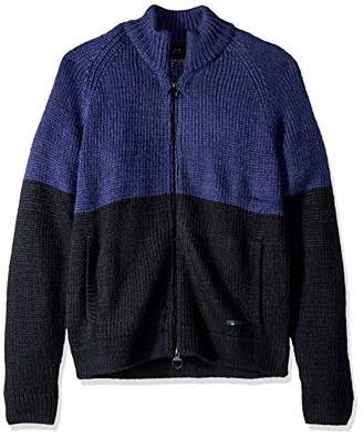 Armani Exchange A|X Men's Colorblock Zip Sweater