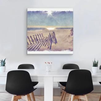 """Beach Fence 35"""" x 35"""" Canvas Wall Art"""