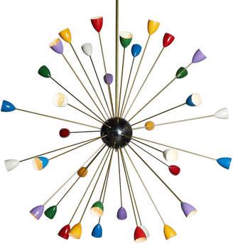 Rejuvenation 36-Light Italian Stilnovo-Style Sputnik Chandelier
