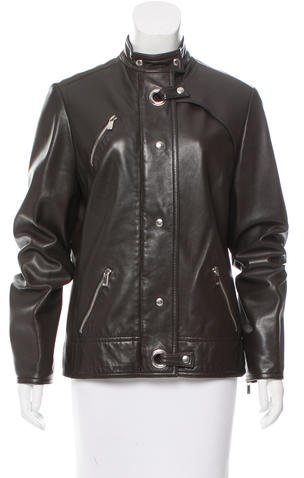 MICHAEL Michael Kors Michael Kors Leather Biker Jacket