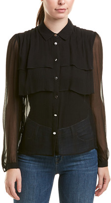 The Kooples Layered Silk Top