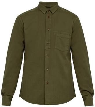 Barena Venezia - Dorona Herringbone Twill Cotton Shirt - Mens - Khaki