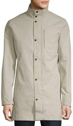 J. Lindeberg Men's Stand Collar Trench Coat