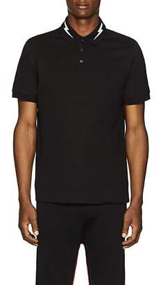 Neil Barrett Men's Lightning-Bolt Cotton Piqué Polo Shirt