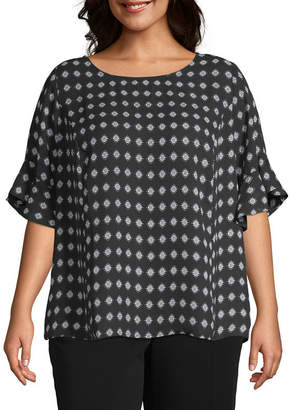 4d522464d5c24 Plus Size Black And White Striped Top - ShopStyle