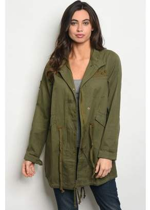 Couture Kay Women's Olive Military Jacket