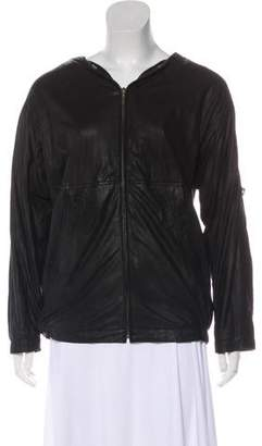 MM6 MAISON MARGIELA Zip-Up Leather Jacket